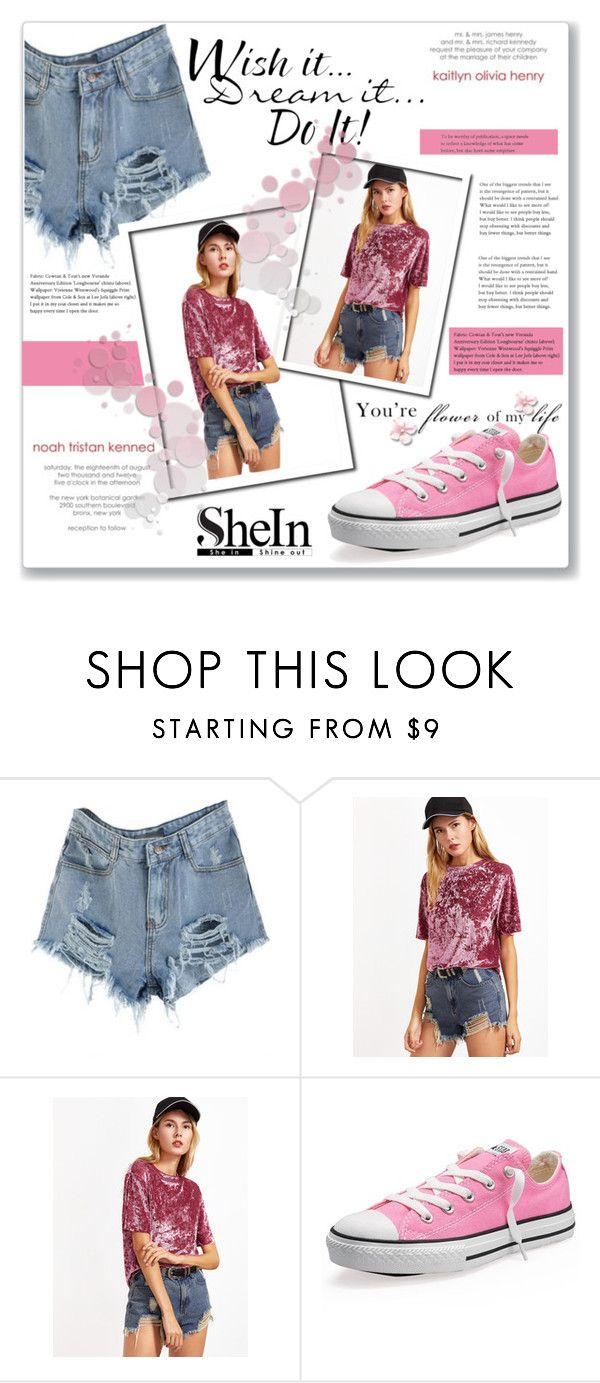 """""""Shein contest 9"""" by azradzana ❤ liked on Polyvore featuring Converse and WALL"""