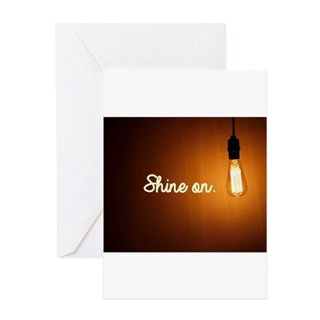 Shine On Greeting Cards on CafePress.com