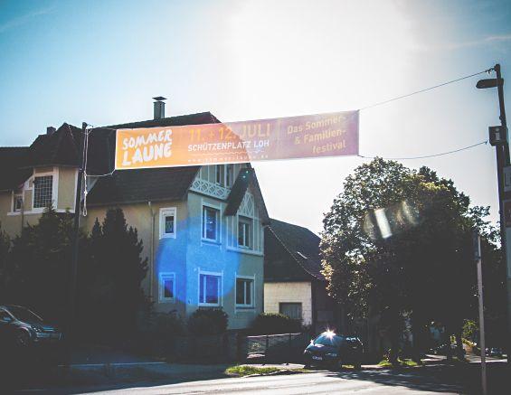 Sommerlaune Festival Lüdenscheid, Corporate Design, Straßen-Banner, Herscheider Landstraße
