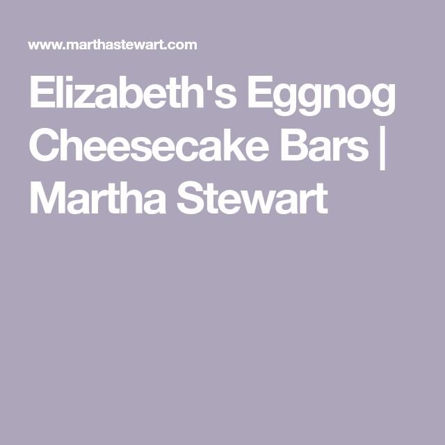 Elizabeth's Eggnog Cheesecake Bars #eggnogcheesecake