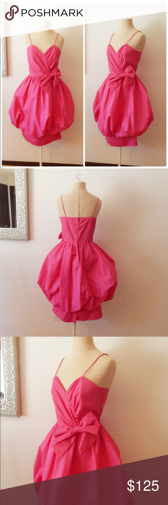 New years vintage prom pretty in pink dress vintage pretty in