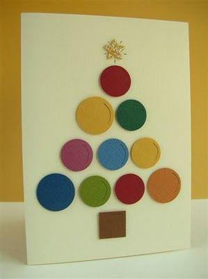 Postales De Navidad Faciles My Style In Papers Pinterest