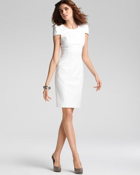 Women's White Asymmetrical Coat | Sheath dresses, French and Dresses