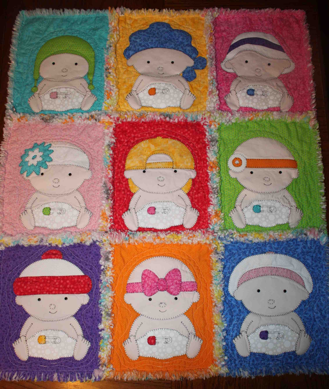Amy Bradley Pattern Raggy Baby Quilt Caricaturas De