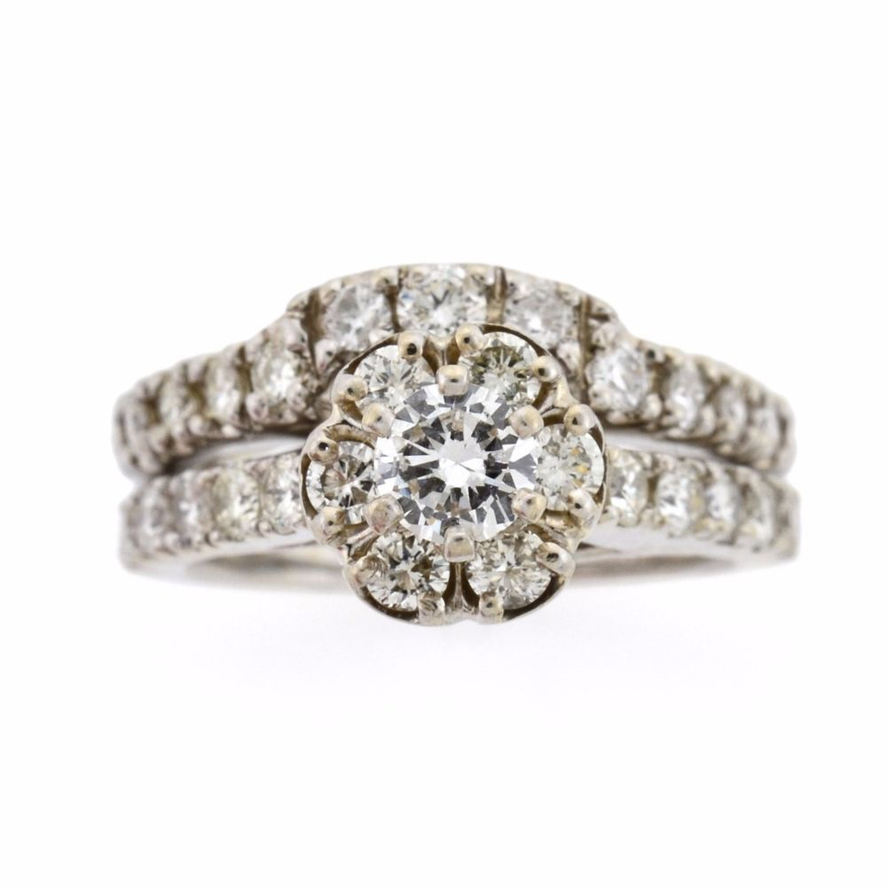 Ctw round diamond pc k white gold custom engagement ring