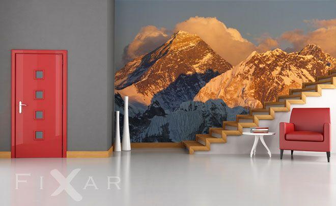 Die-herrlichkeit-der-berge-landschaften-fototapeten-fixar Ideas - fototapete wohnzimmer schwarz weiss