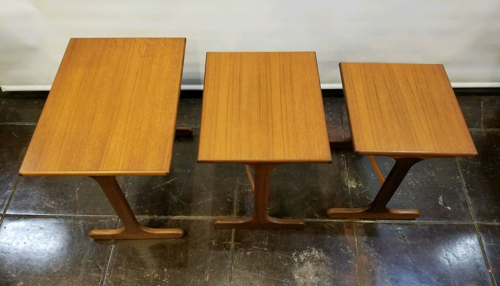 Details About Danish Mid Century Modern Teak Nest Tables By G Plan E Gomme England Uk Mcm Midcentury Modern Teak Mid Century