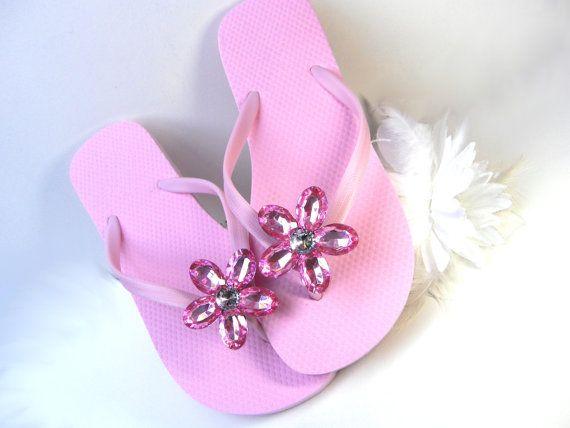 Boutique Jeweled Flip Flops, Rhinestones, Bling, Sparkle -3357