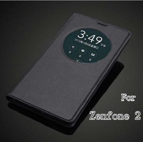 super popular 2eb18 b495a 2 Smart View Window Back Cover Flip Leather Case ASUS Zenfone 2 ...
