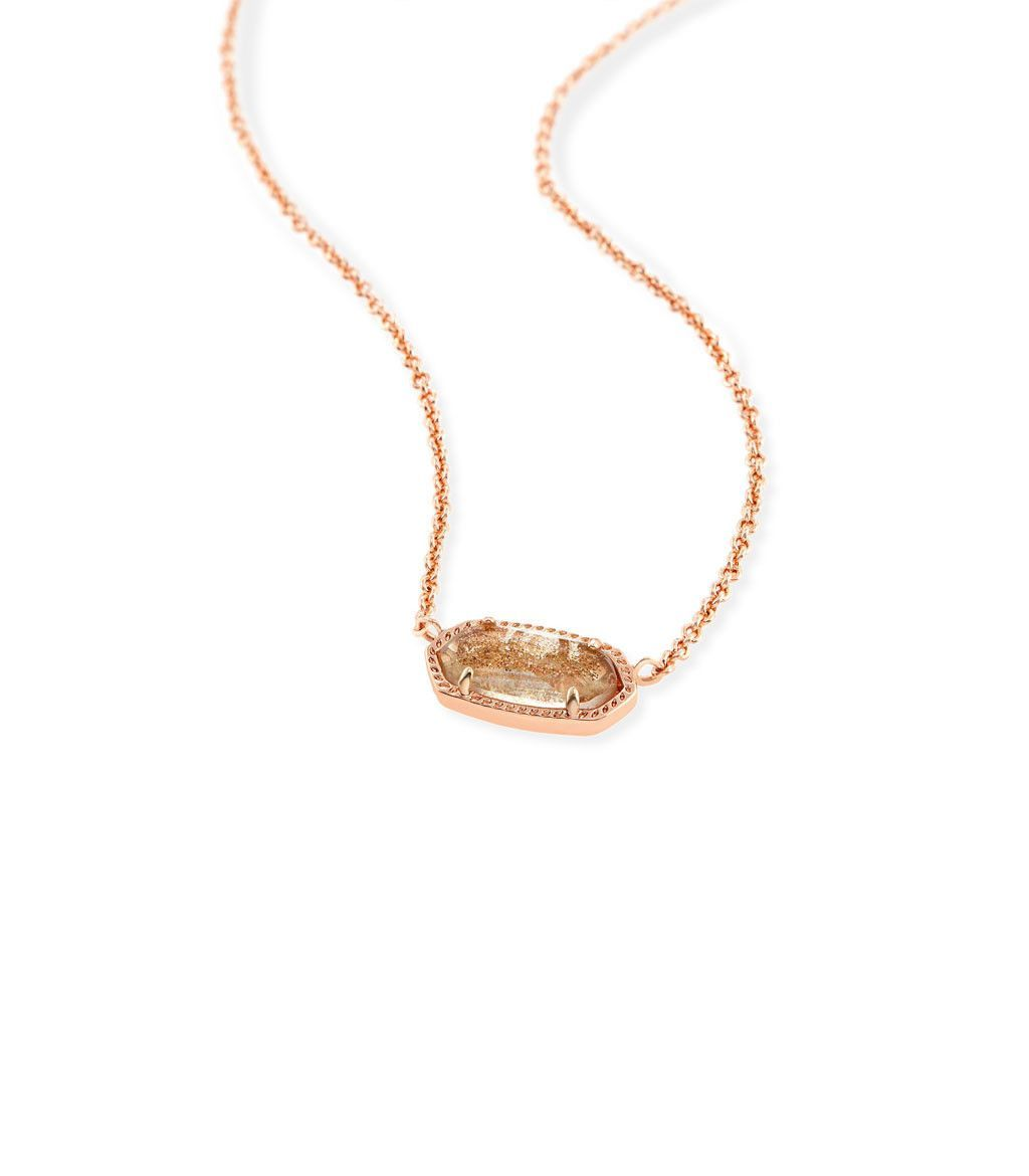 Kendra scott elisa pendant necklace in gold dusted glass jewelry