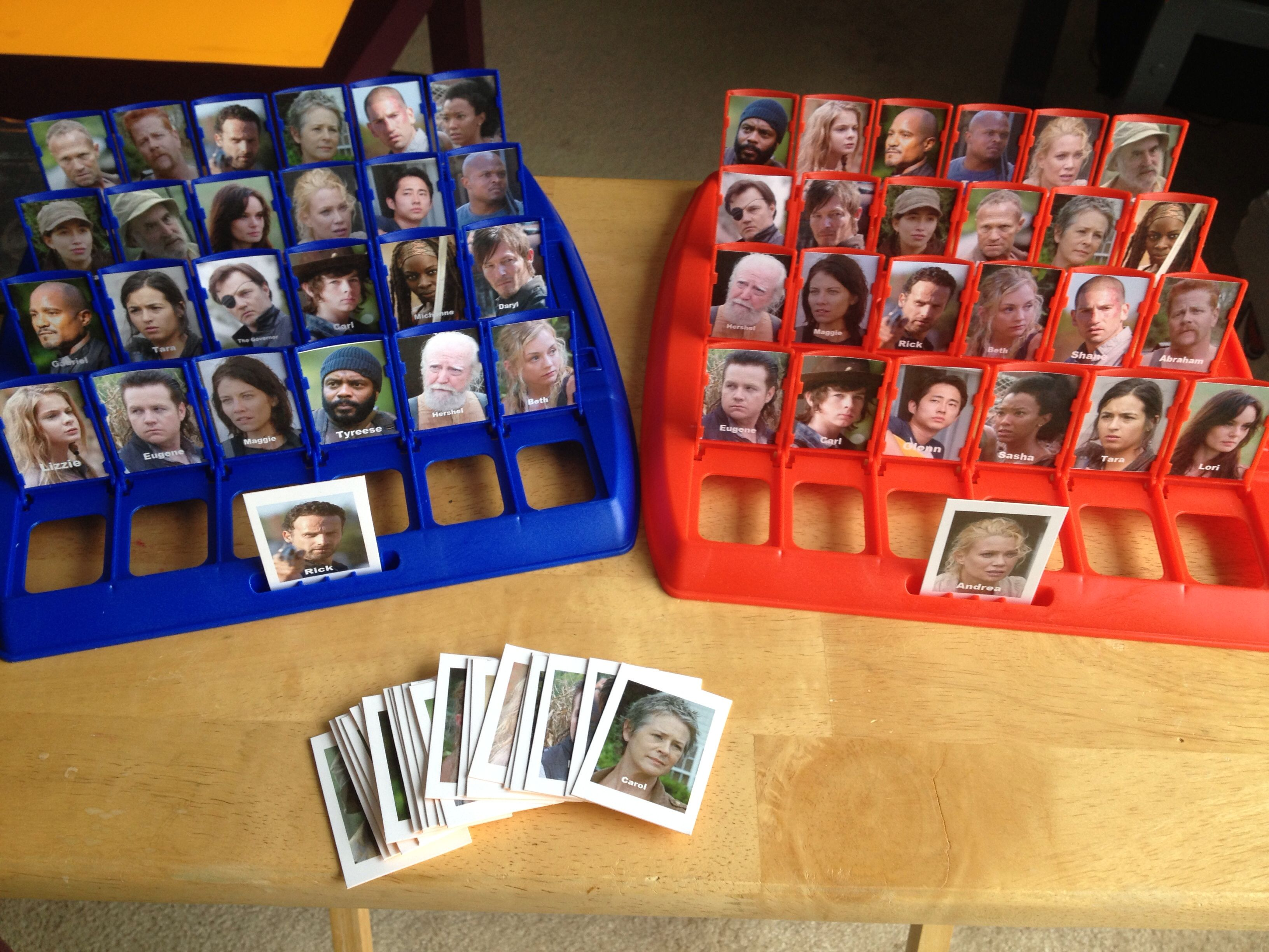Custom The Walking Dead Guess Who Who Is It Game