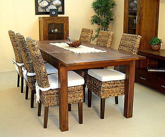 Comedor colonial 2 material madera de teca mueble en el - Mesa comedor colonial ...