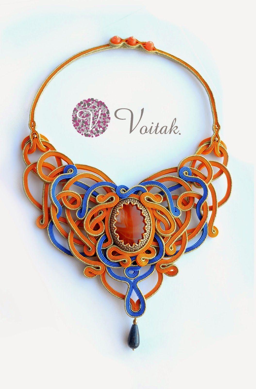 Soutache Jewelry. Artystyczna Biżuteria Autorska Katarzyna Wojtak: #0078 Duquesa. Naszyjnik Sutasz.