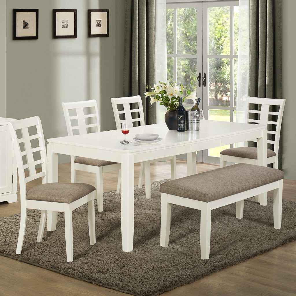 White Dining Room Table White Kitchen Table With Bench