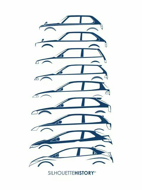 Civic Generation Honda Sivik Avtomobili Iskusstvo