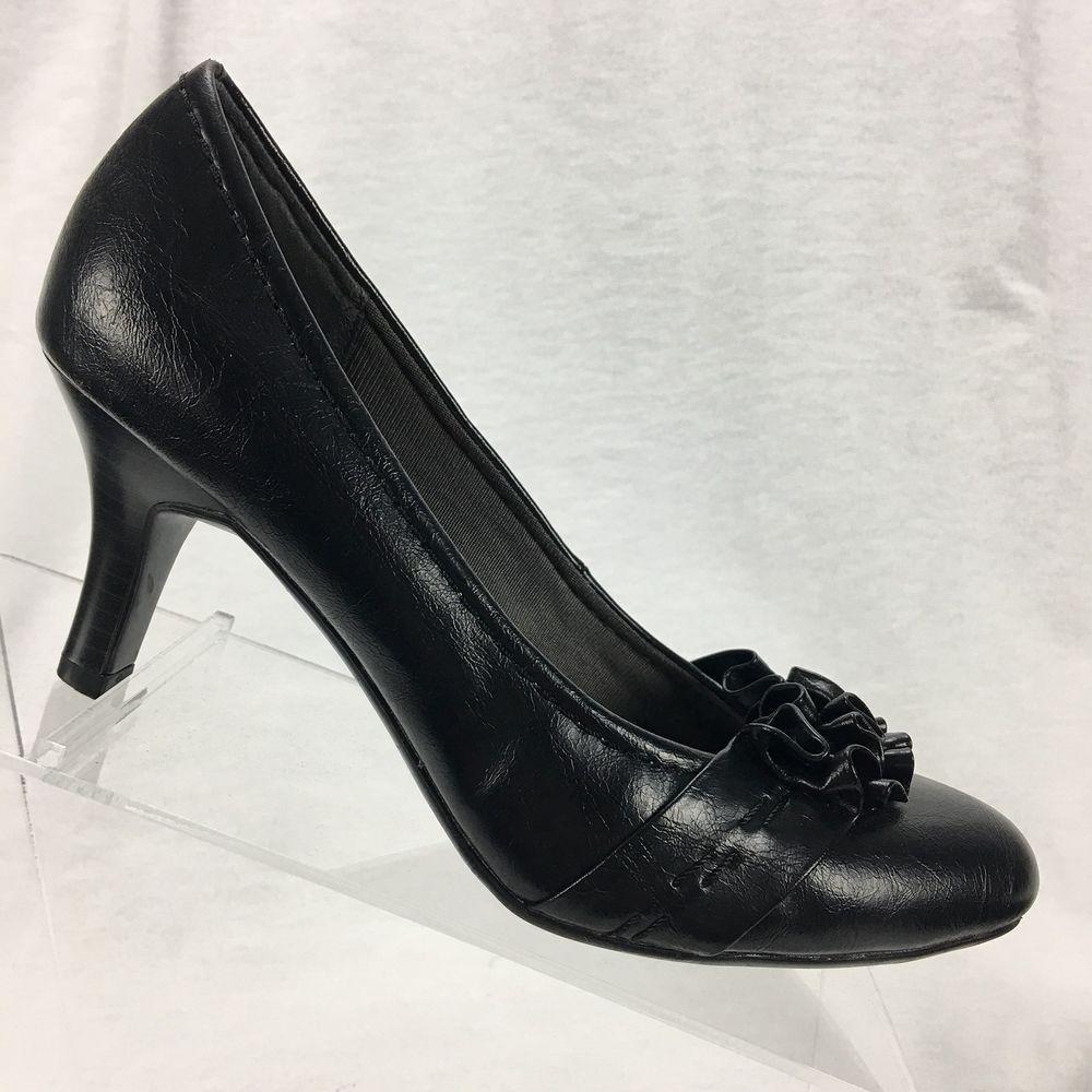 Women shoes, Black pumps heels, Shoe