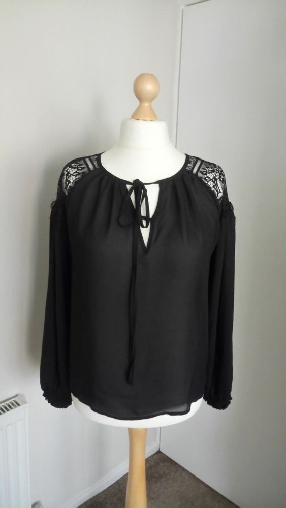 818b5a8cdf4 ladies black lace shoulder top from B You size 16 18 NEW  fashion  clothes   shoes  accessories  womensclothing  topsshirts (ebay link)