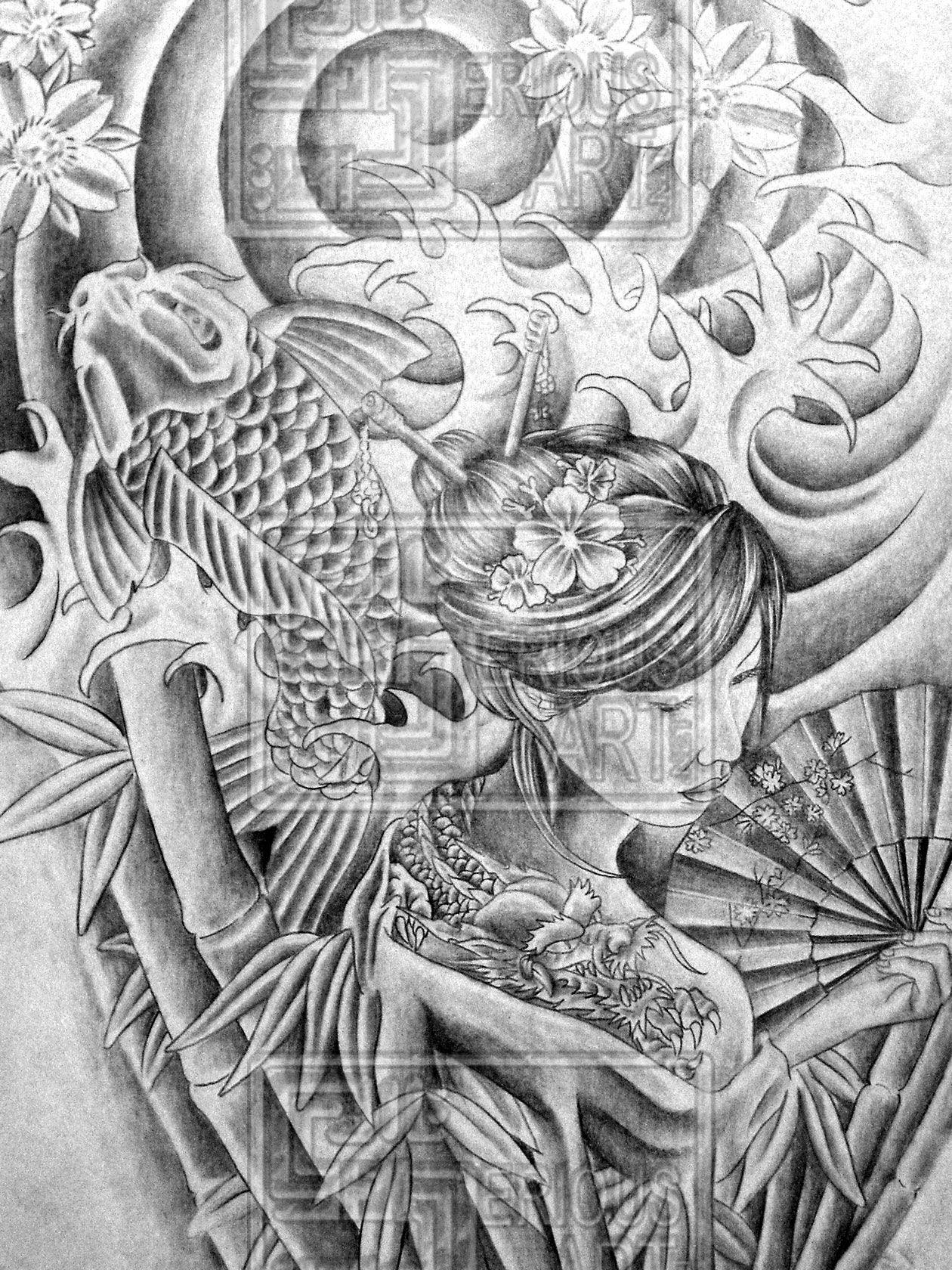 Japanese half sleeve tattoo designs - Japanese Tattoo Drawings Japanese Sleeve Tattoos Are A Great Form Of Art I Created This
