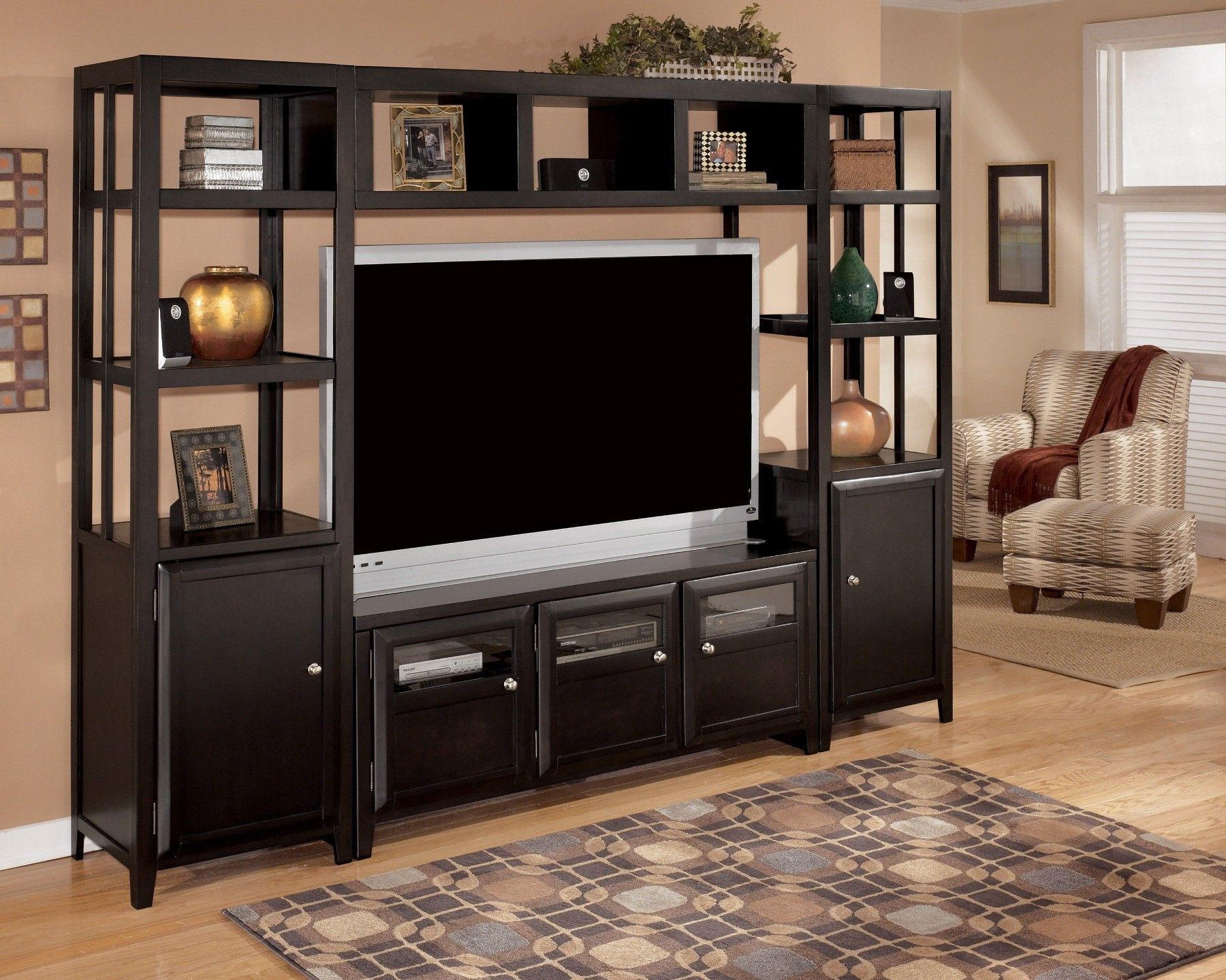Corner Showcase Designs For Living Room Impressive Naomi Entertainment Wall Unit …  Pinteres… Inspiration Design