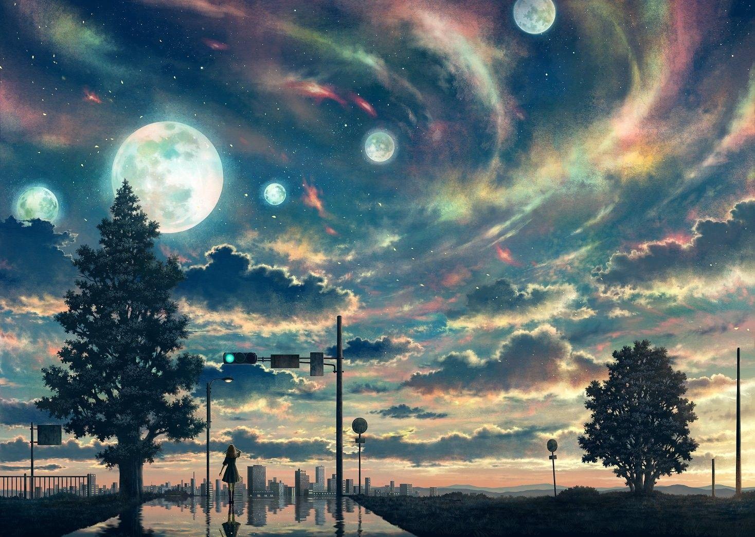 Anime Sky Wallpapers Art Image Nature View Beautiful Kurdishotaku Animeart Wallpaper Sunset Animewallpaper Sky Anime Anime Wallpaper Beautiful Sky