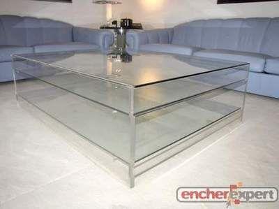 table basse invisible design dlg david lange en plexiglas. Black Bedroom Furniture Sets. Home Design Ideas
