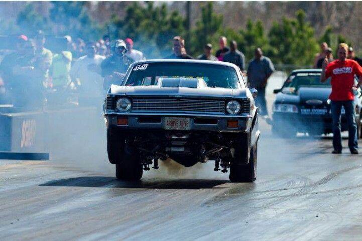 Wheelie Chevy Nova Rodder Drag Racing Cars
