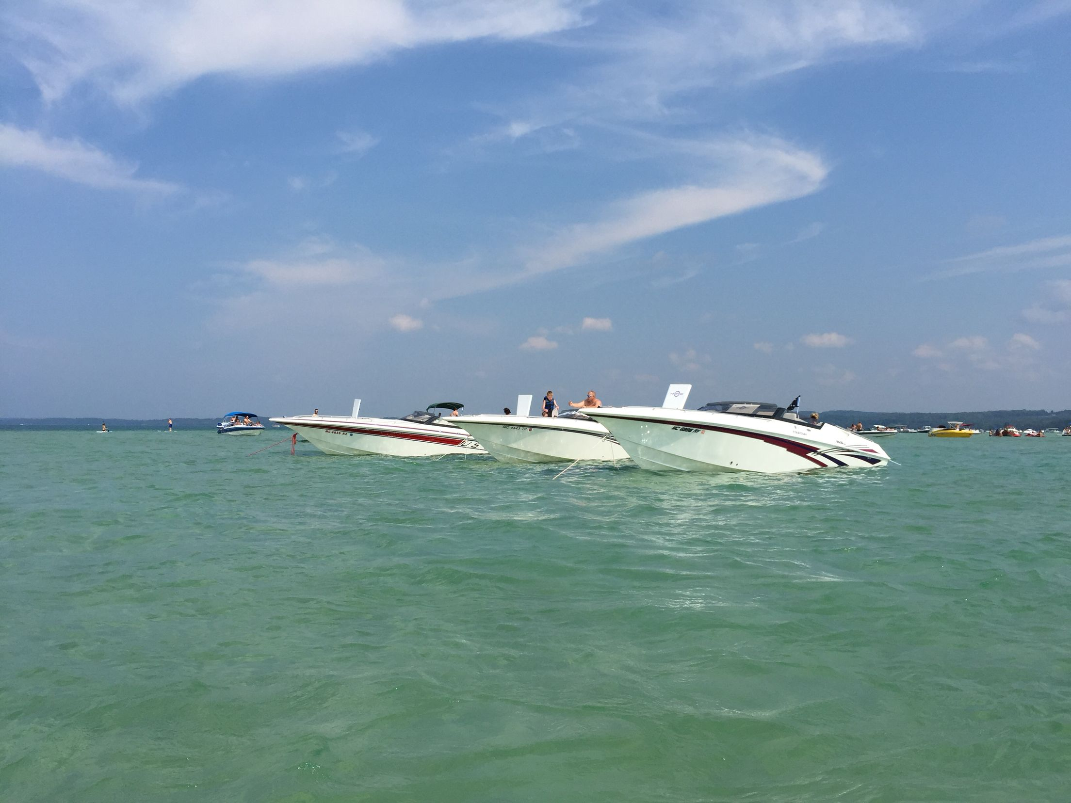 3 fountains in torch lake torch lake power boats boat