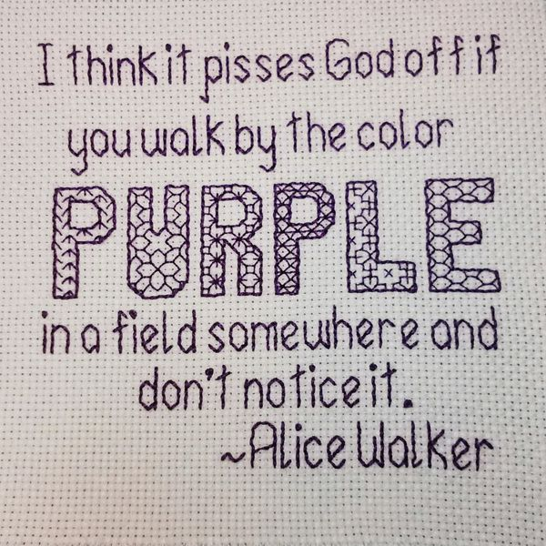 Free Blackwork Embroidery Pattern The Color Purple Craftypodes