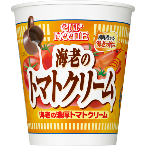 New Creamy Tomato with Shrimp Cup Noodle. Limited edition by Nissin group. #nissincupnoodles #cupnoodles #instantcupnoodles #tomato #shrimp #food #yummy #japanesefood #trending #shopping #fromjapan
