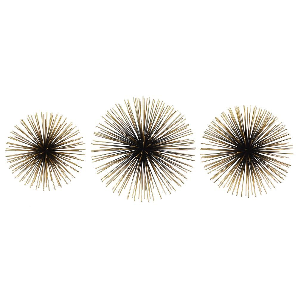 Habitat Rocchio Large Starburst Sets Black And Gold Metal Wall Art