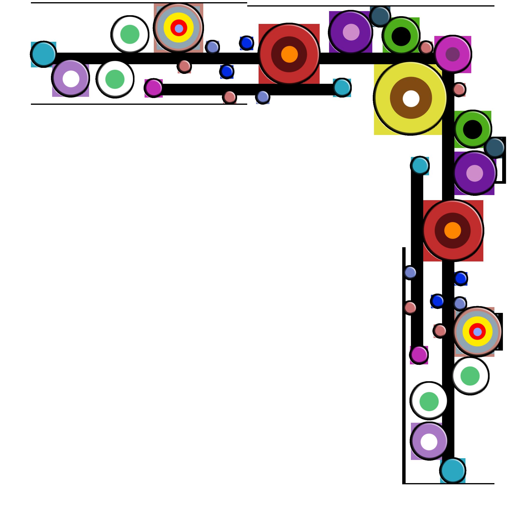 emboss retro target circle dots corner border frame even