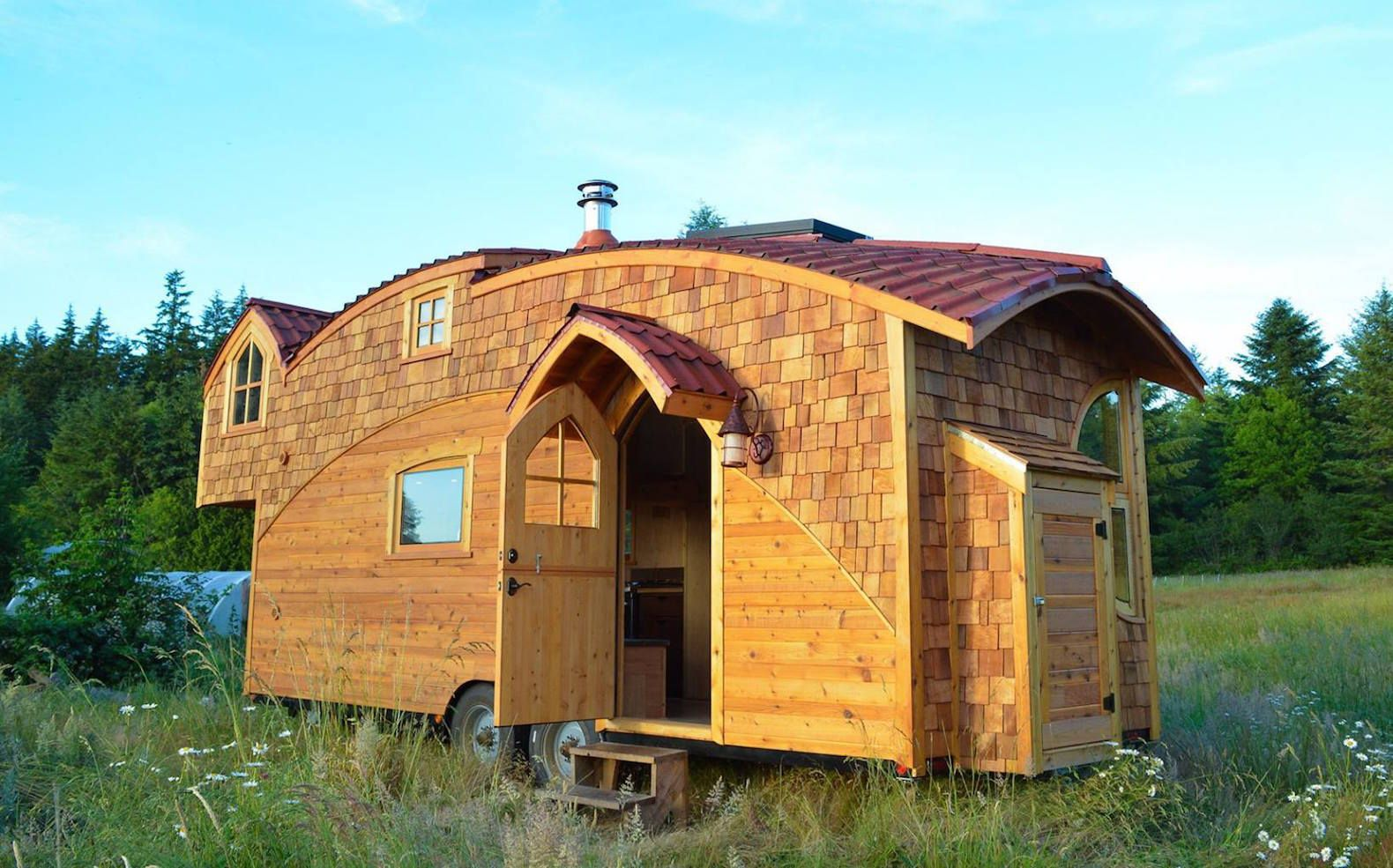 Stunning Moon Dragon is a fairytale like tiny house that goes off