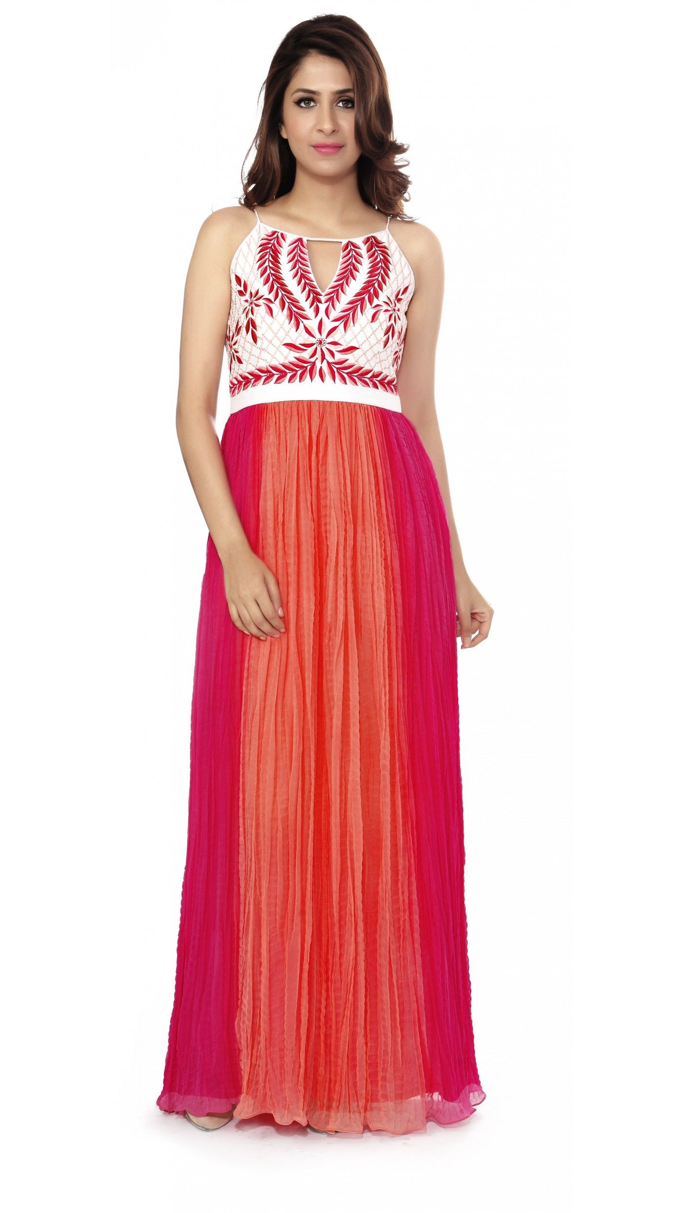 Buy ANITA DONGRE Pink and White Gown online Looksgud.in