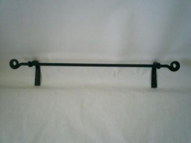 Wrought Iron Towel Bar Scroll Ends Large Amish Made Landing