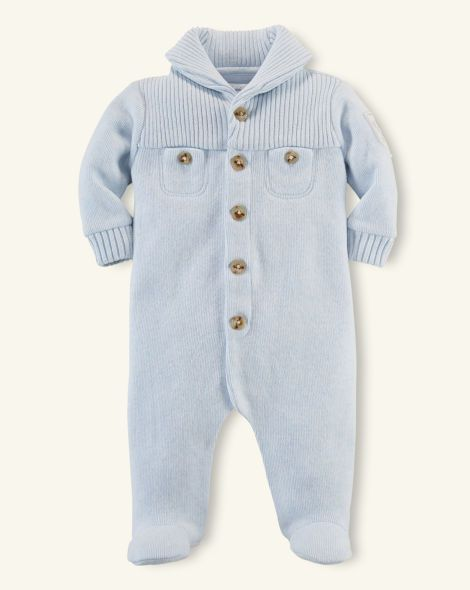 14489289bd97 Cotton Shawl-Collar Coverall - Layette One-Pieces   Sets ...
