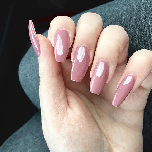 Muave coffin acrylic nails| Long acrylic coffin nails| | Nailzzz ...