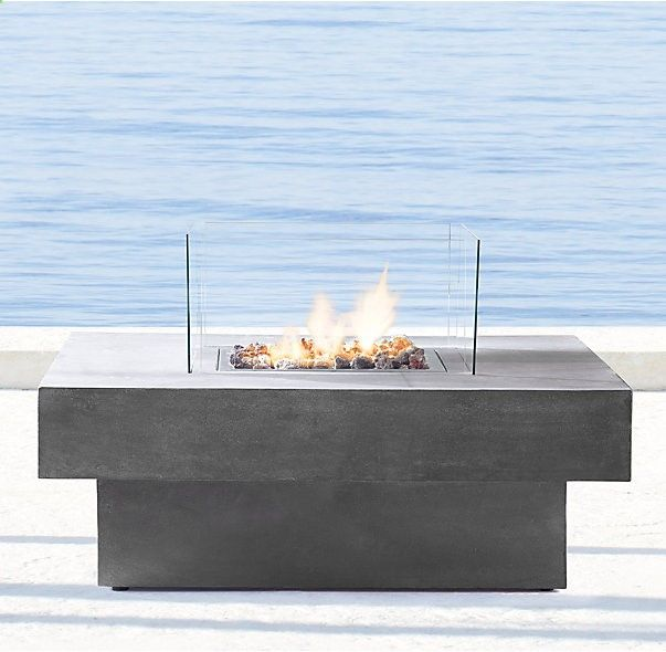 Attractive Laguna Concrete Natural Gas Fire Table   Square