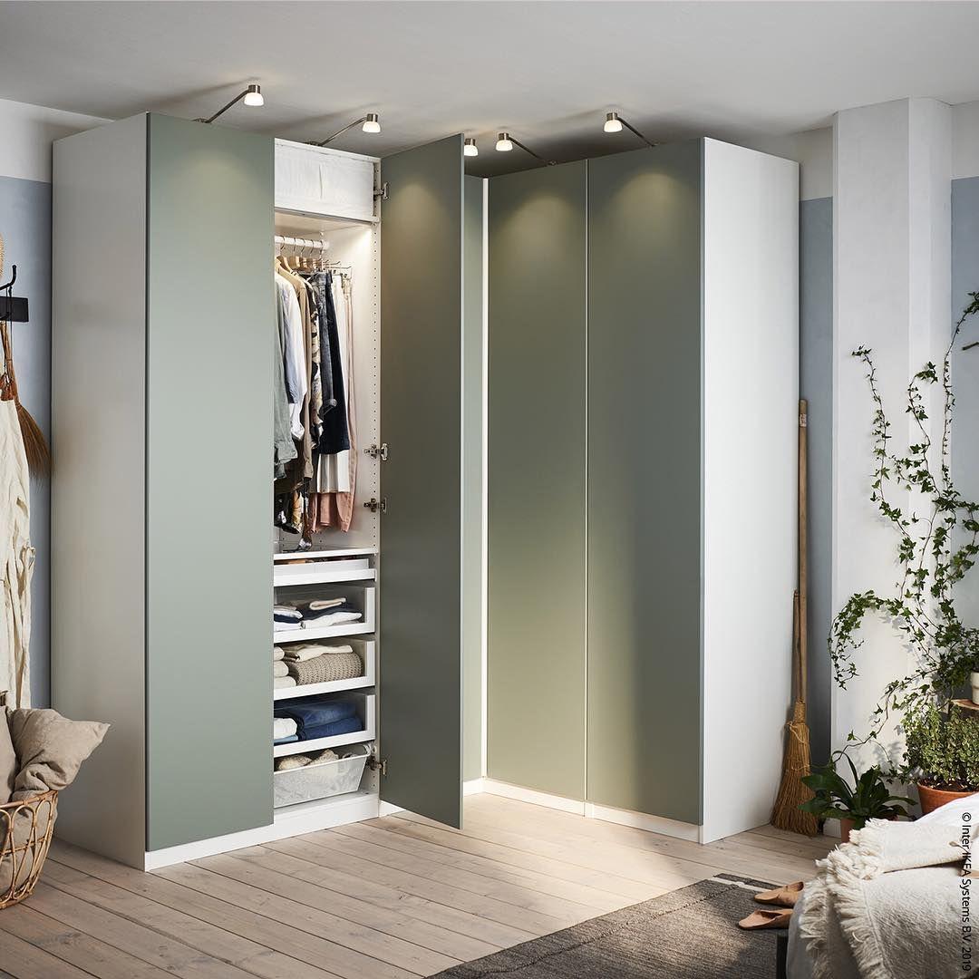 Ikea Deutschland On Instagram Stauraum Ums Eck Pax Meinikea Ikea Stauraum Paxliebe Ikeakleiderschrank Nordichome Bedroomin Decor Home Home Decor