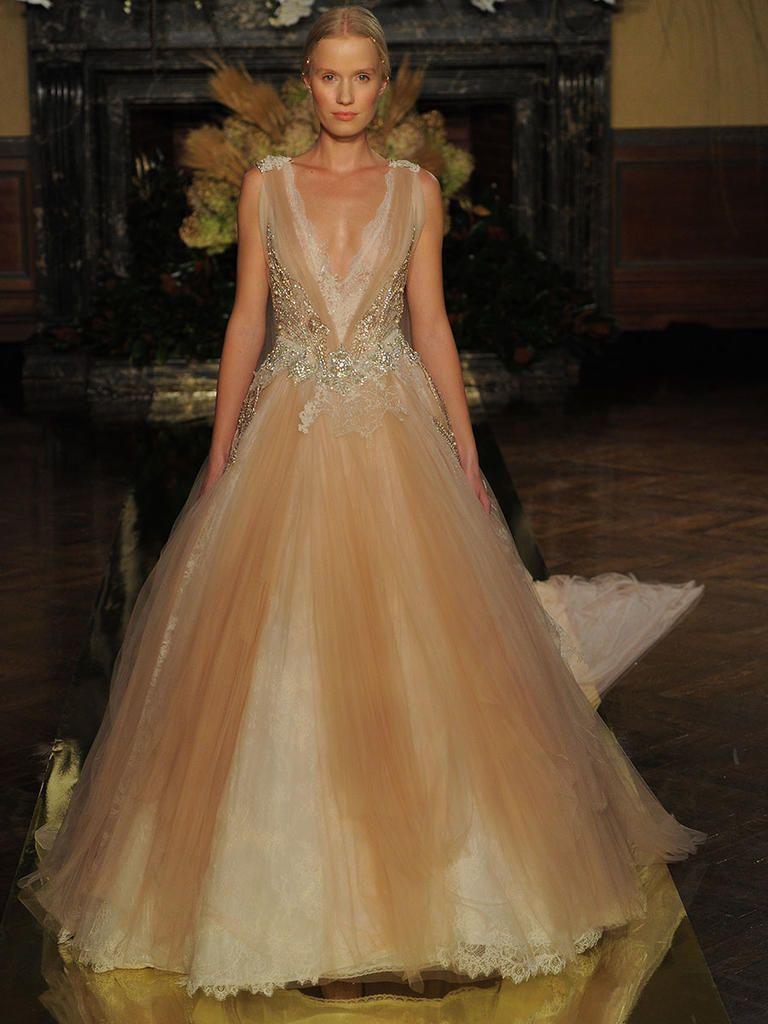 Brown wedding dresses  Yolan Cris Fall  Wedding Dresses Fit for Royalty  Wedding