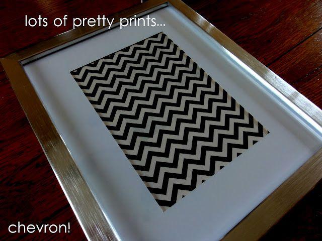 Ikea Ribba frames + scrapbook paper = cool artwork for little money!