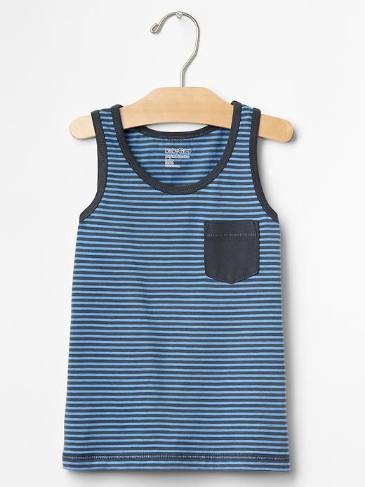 Feeder stripe pocket tank Product Image