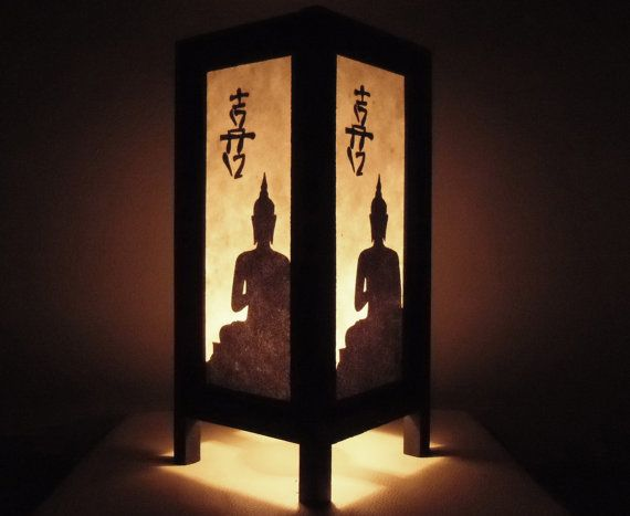 Asian Thai Chinese Buddha Handmade Lamp Bedside Oriental Paper Table PXuTZilwOk