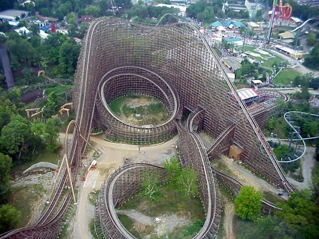 Son Of Beast Meanest Of The Mean Wooden Roller Coaster This Is The