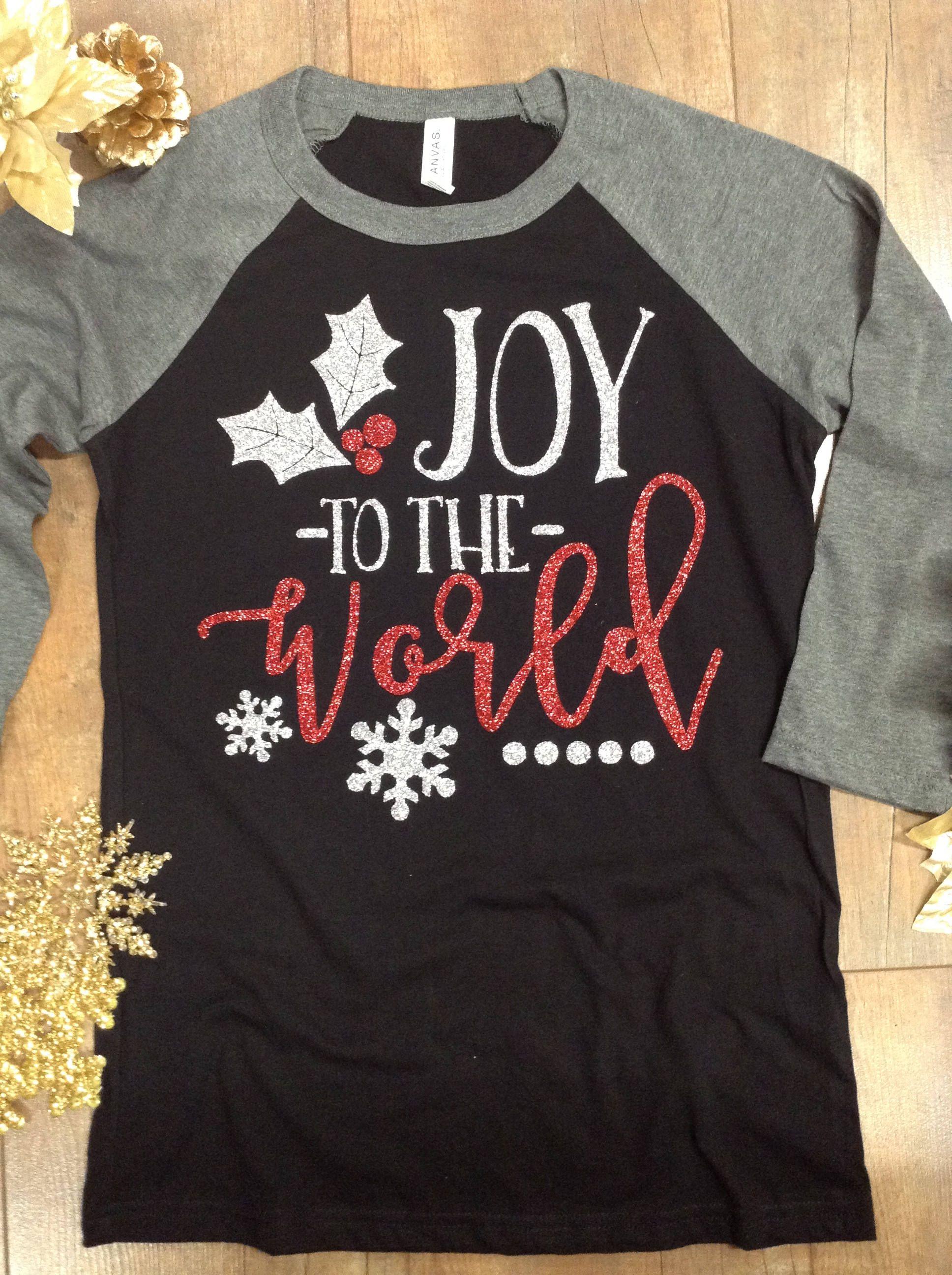 Christmas Raglan Joy To The World Tee Joy To The World