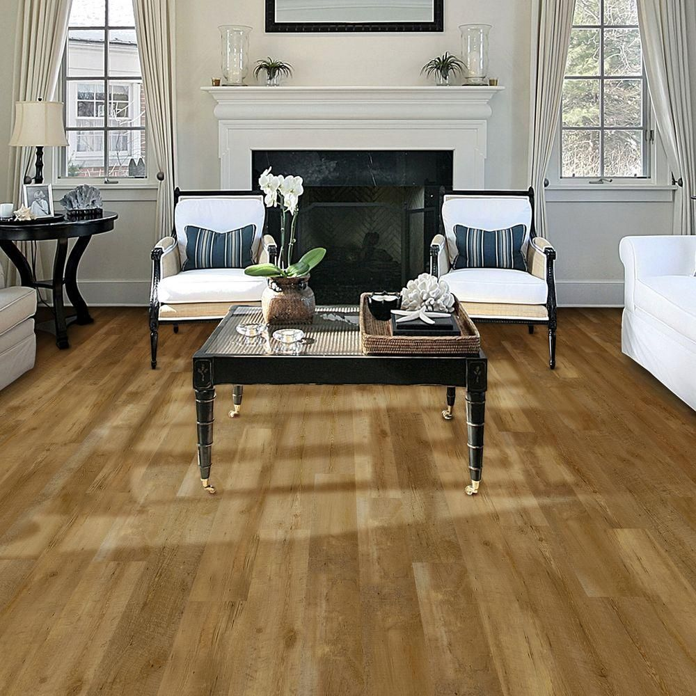 TrafficMASTER Allure Contract 6 In X 36 Pacific Pine Luxury Vinyl Plank Flooring 24 Sq Ft Case