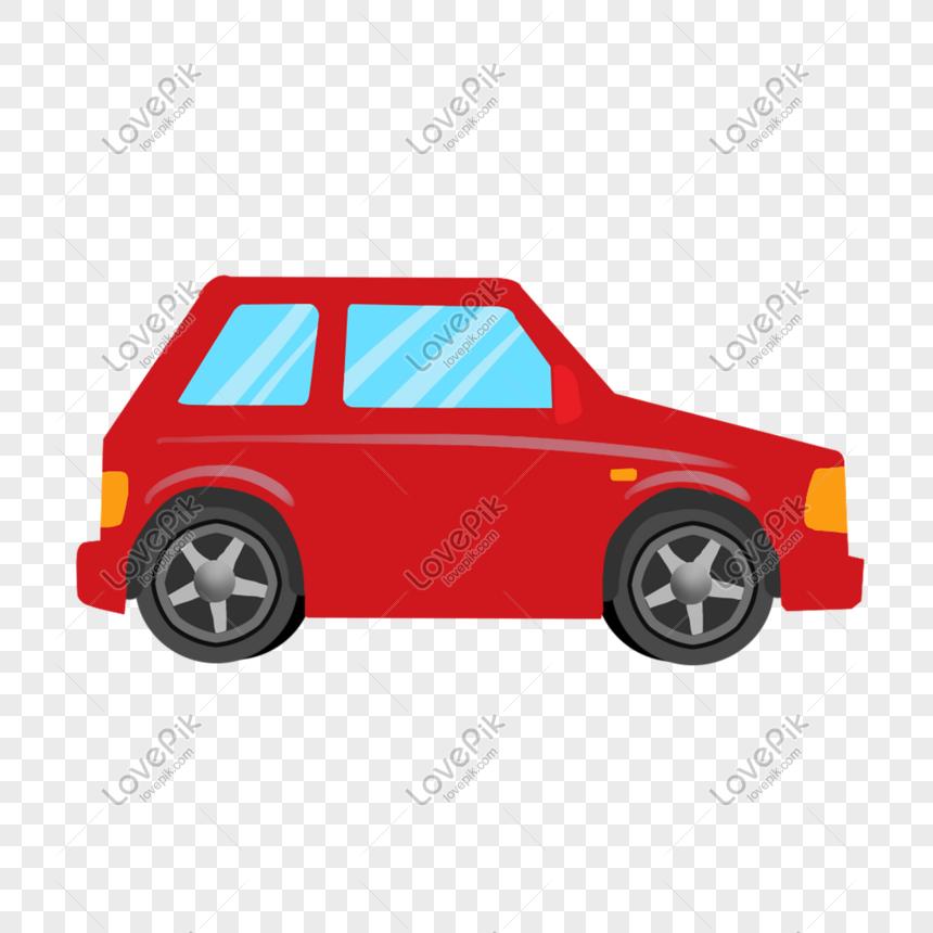 Kereta Kartun Memandu Kereta Merah Self Driving Toy Car Driving