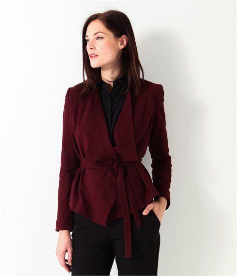 Veste de tailleur femme bordeaux