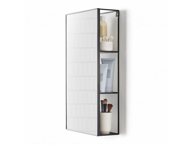 Umbra Cubist Wandrek : Umbra spiegel en opbergrek cubiko style interior