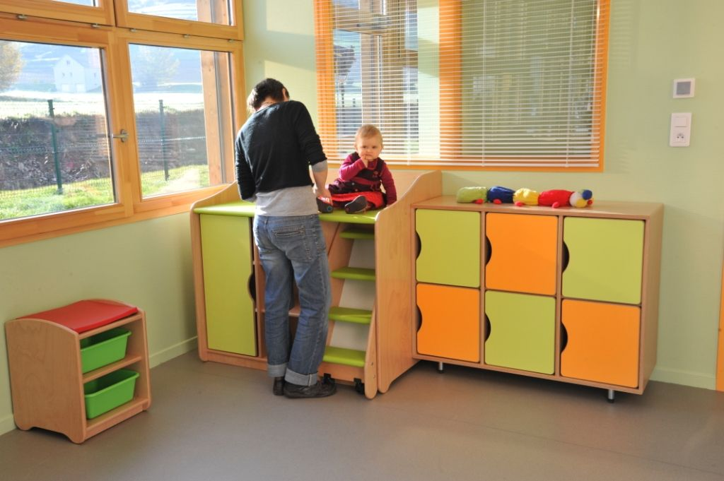 Nappy Change With Pull Out Ladder Preschool Design Ideas