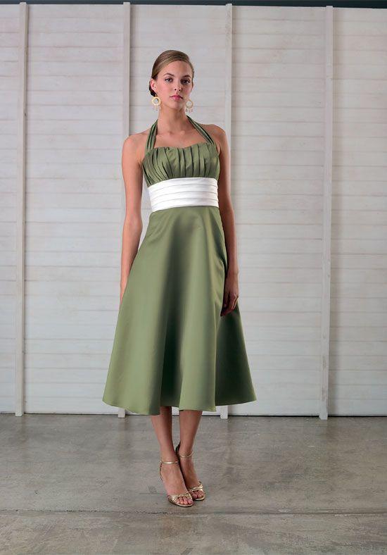 Tea Length Halter Bridesmaid Dresses